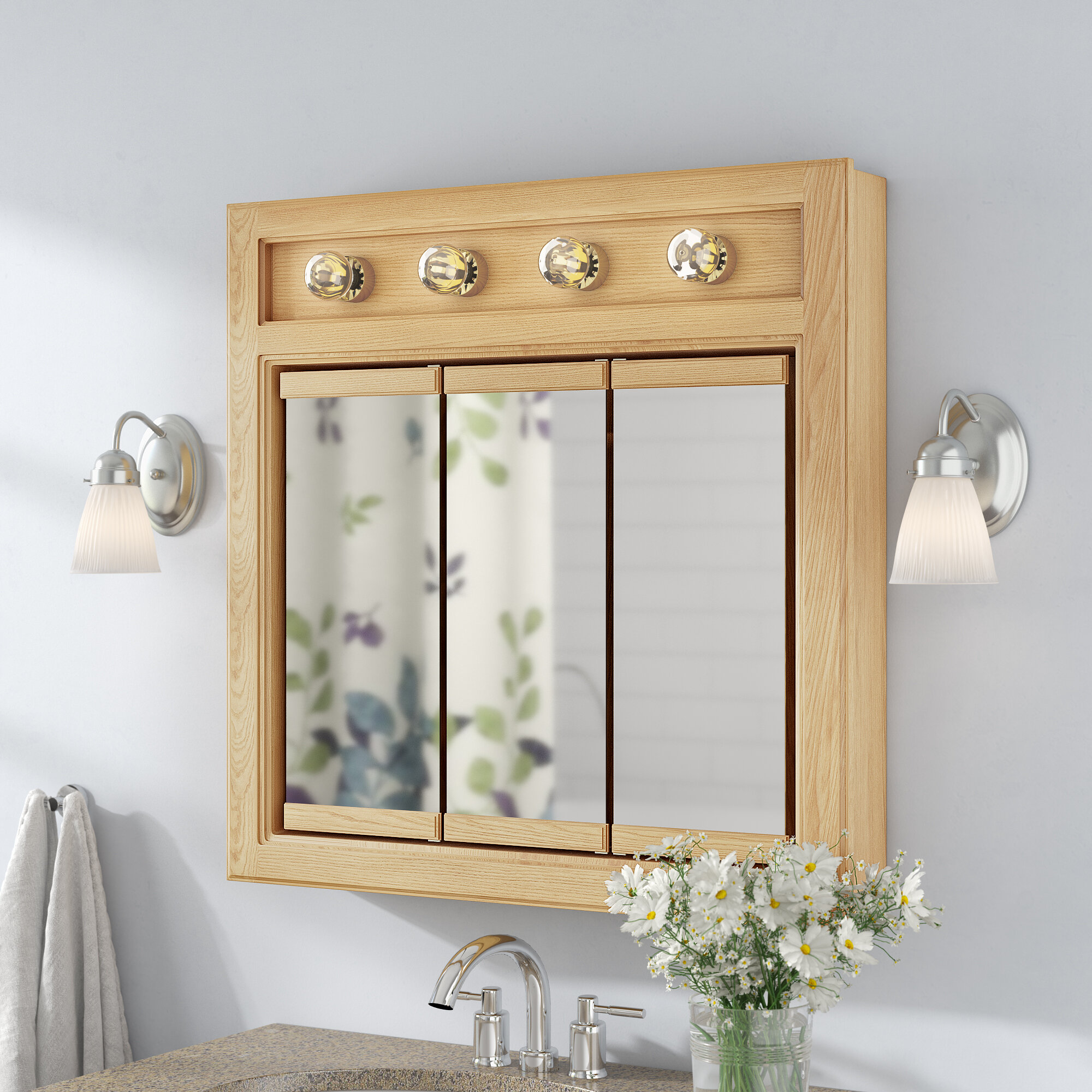 Andover Mills Steubenville 30 X Surface Mount Medicine Cabinet With Lighting Reviews Wayfair
