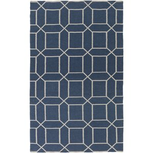Larksville Hand-Woven Blue Outdoor Area Rug