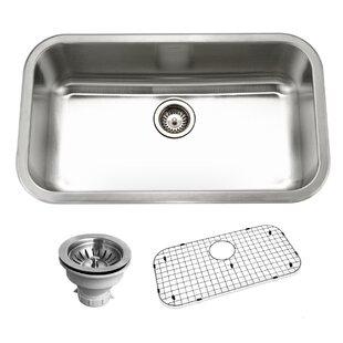 belleo 32 38   x 18 88   topmount single bowl kitchen sink 38 inch kitchen sink   wayfair  rh   wayfair com
