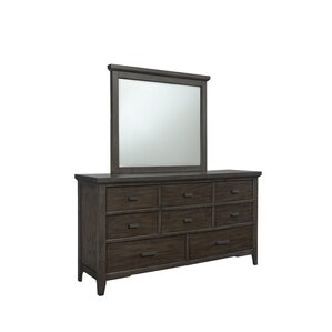 Giana 8 Drawer Dresser with Mirror by Union Rustic