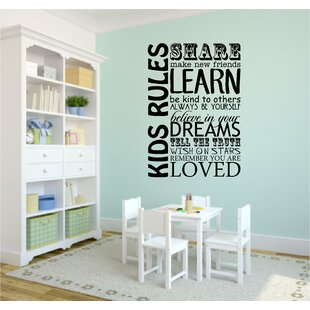 Kids Rules Playroom School Wall Decal  sc 1 st  Wayfair & Playroom Wall Decals | Wayfair