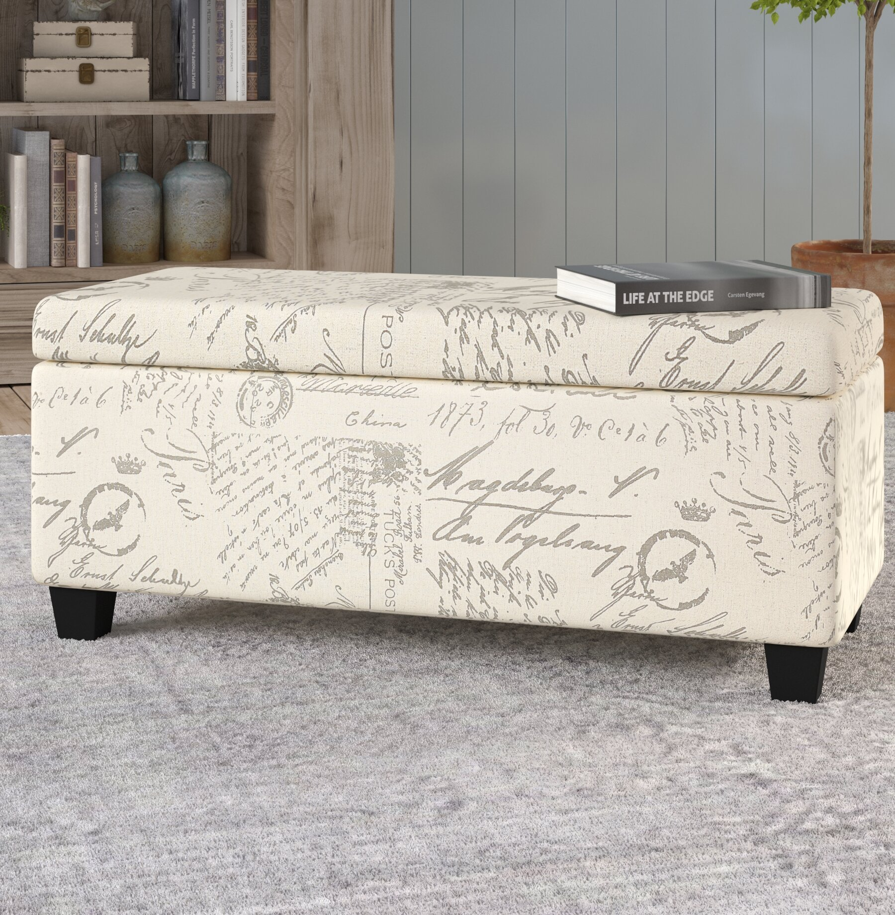 Ordinaire Lemieux Fabric Storage Bench