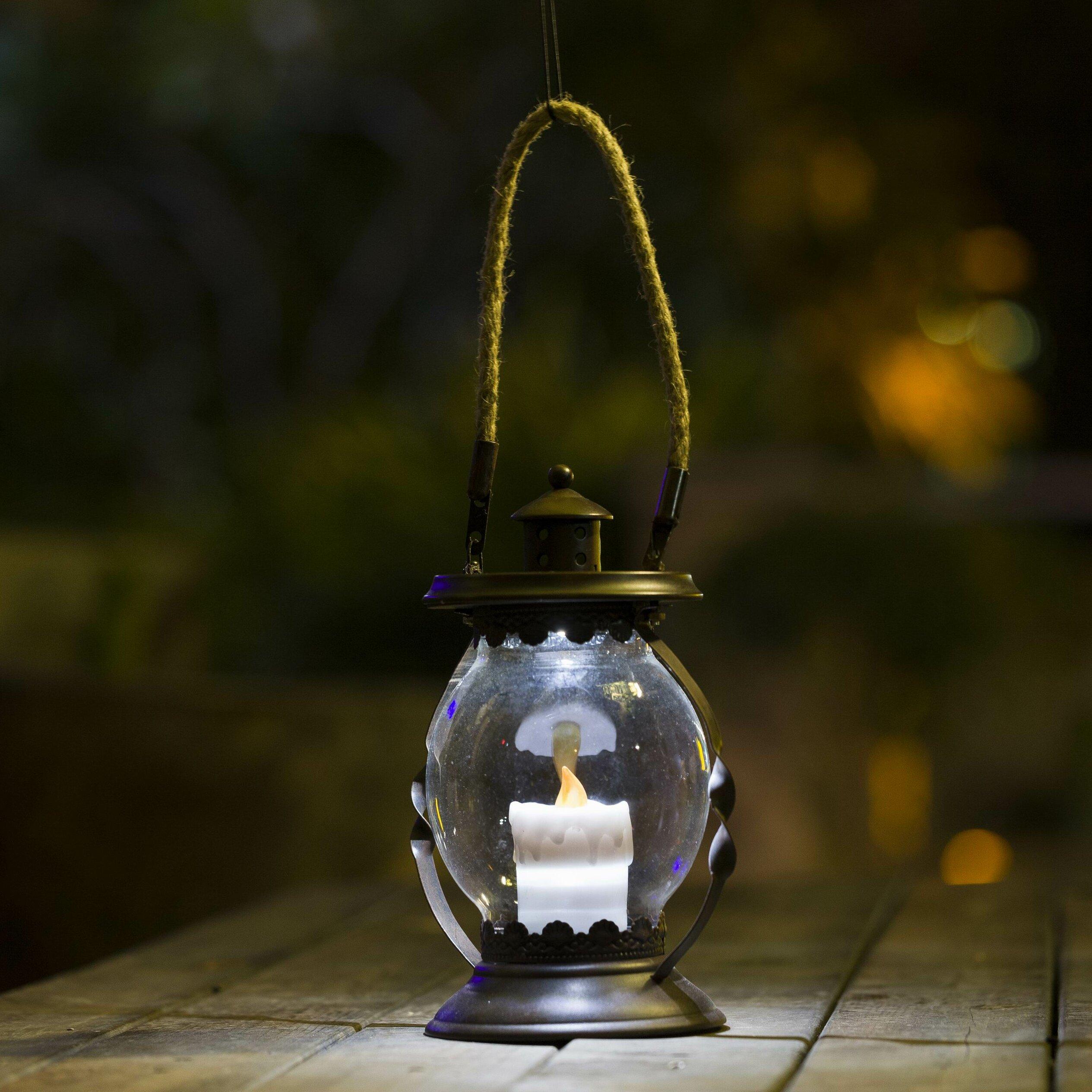 WinsomeHouse Hanging Hurricane Lantern | Wayfair