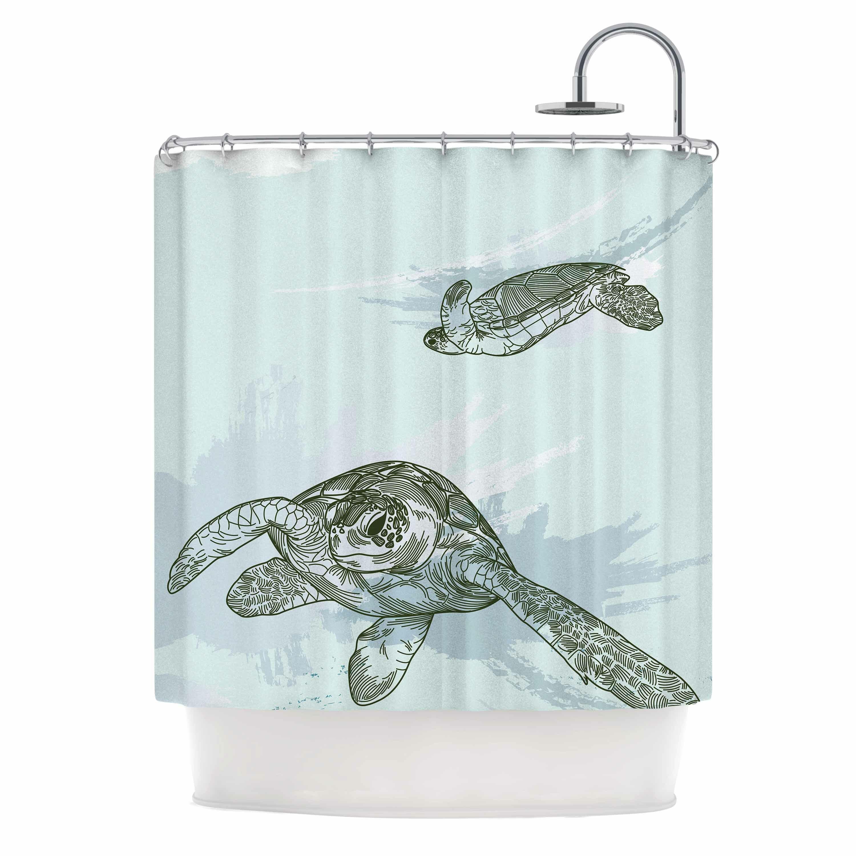 East Urban Home Sea Turtles Shower Curtain