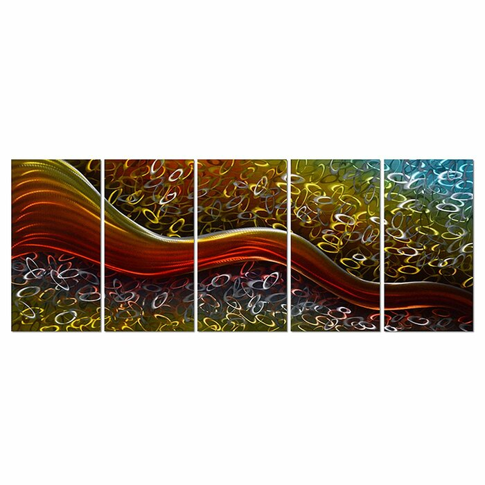 Colourful Hiness Within Field Large Abstract Metal Wall Art Decor 64