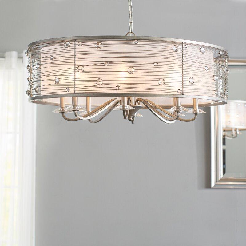 Hermione 8 light drum chandelier