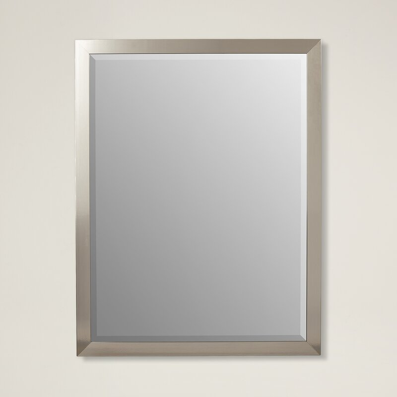 Latitude Run Stainless Framed Wall Mirror & Reviews | Wayfair