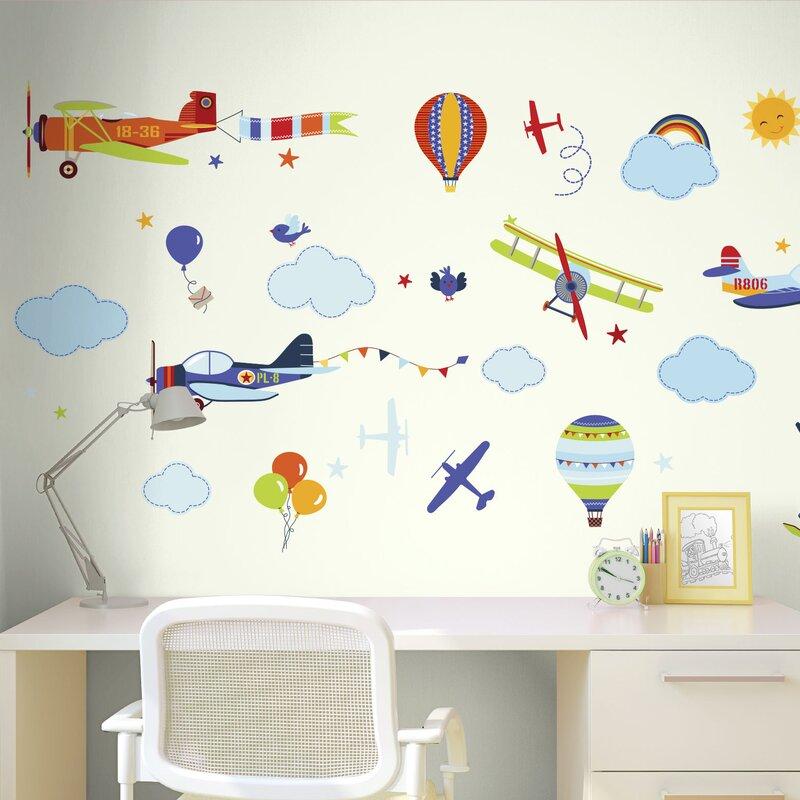 Vintage Planes Nursery Wall Decal