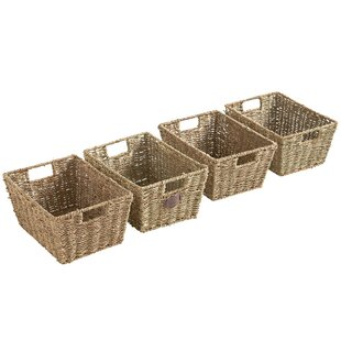 Gentil Seagrass Storage Basket (Set Of 4)