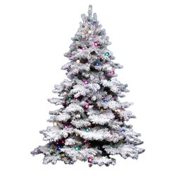 The Holiday Aisle Flocked Alaskan 7.5' White Artificial Christmas ...
