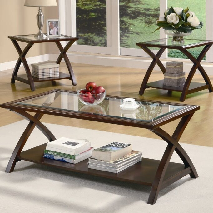 Elegant Beyers 3 Piece Coffee Table Set