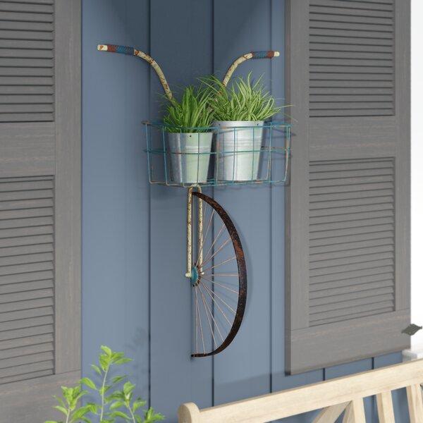 Red Barrel Studio Front Basket Metal Bicycle And Planter Wall Decor Reviews Wayfair