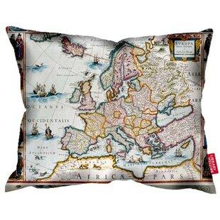 Map cushion wayfair british library 1672 europe map cushion gumiabroncs Images