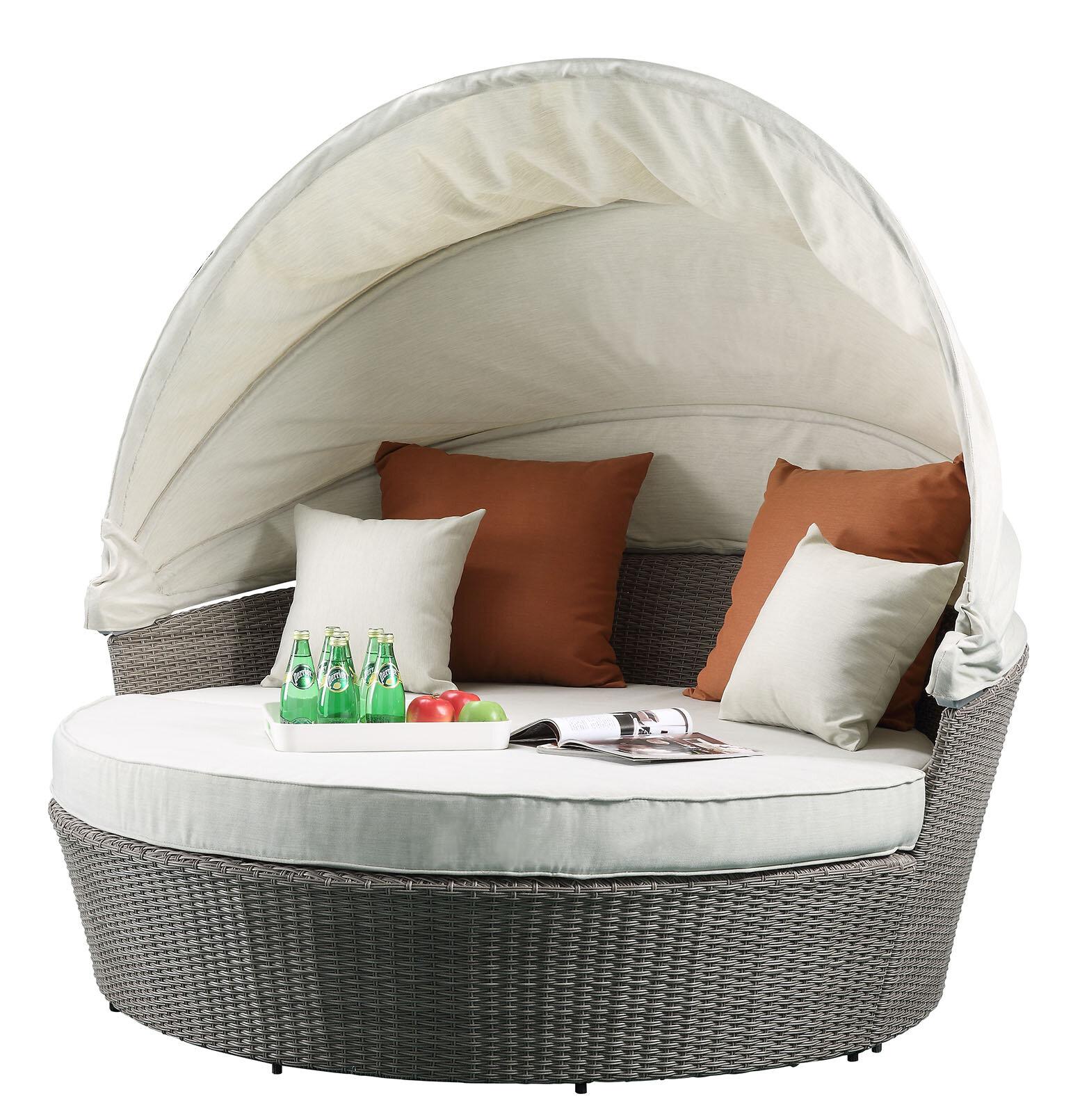 Makenna Canopy Patio Sofa with Cushions