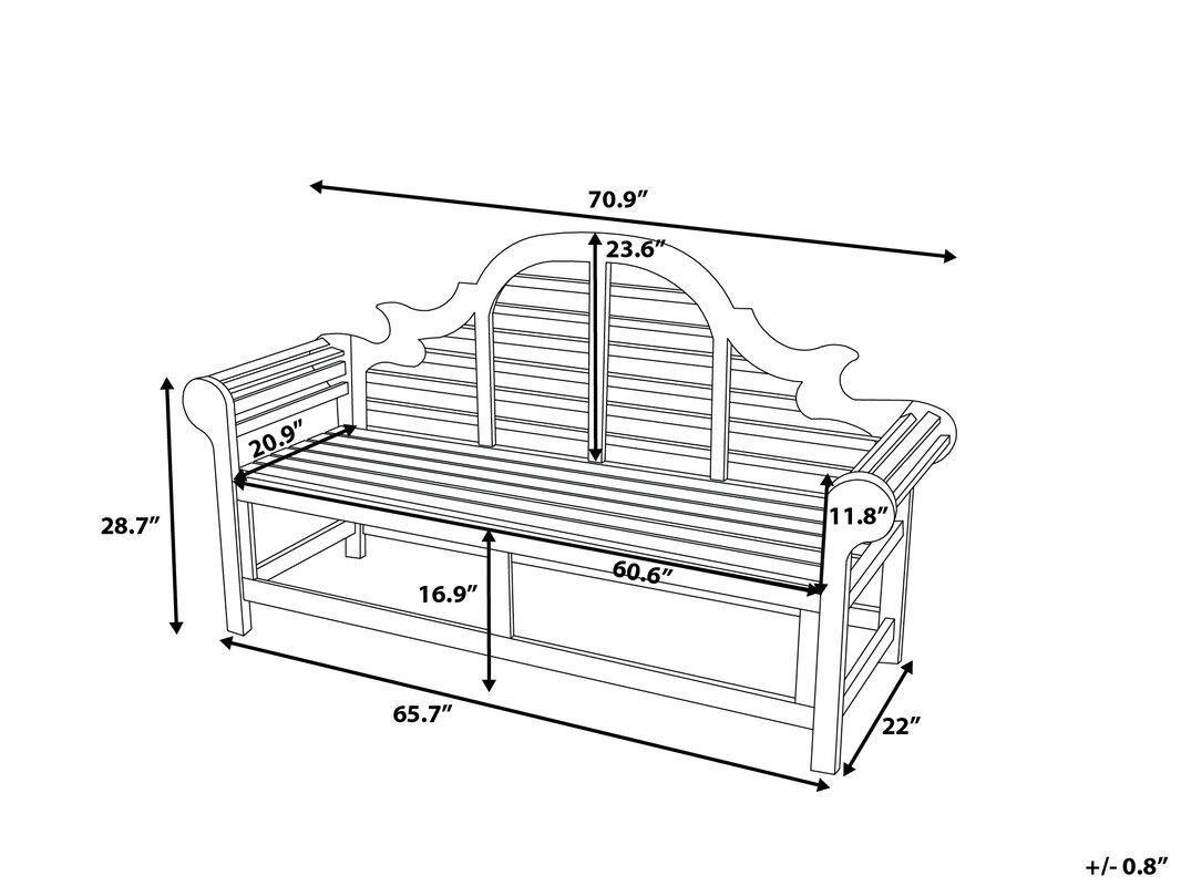 home etc gartenbank muireann aus holz bewertungen. Black Bedroom Furniture Sets. Home Design Ideas
