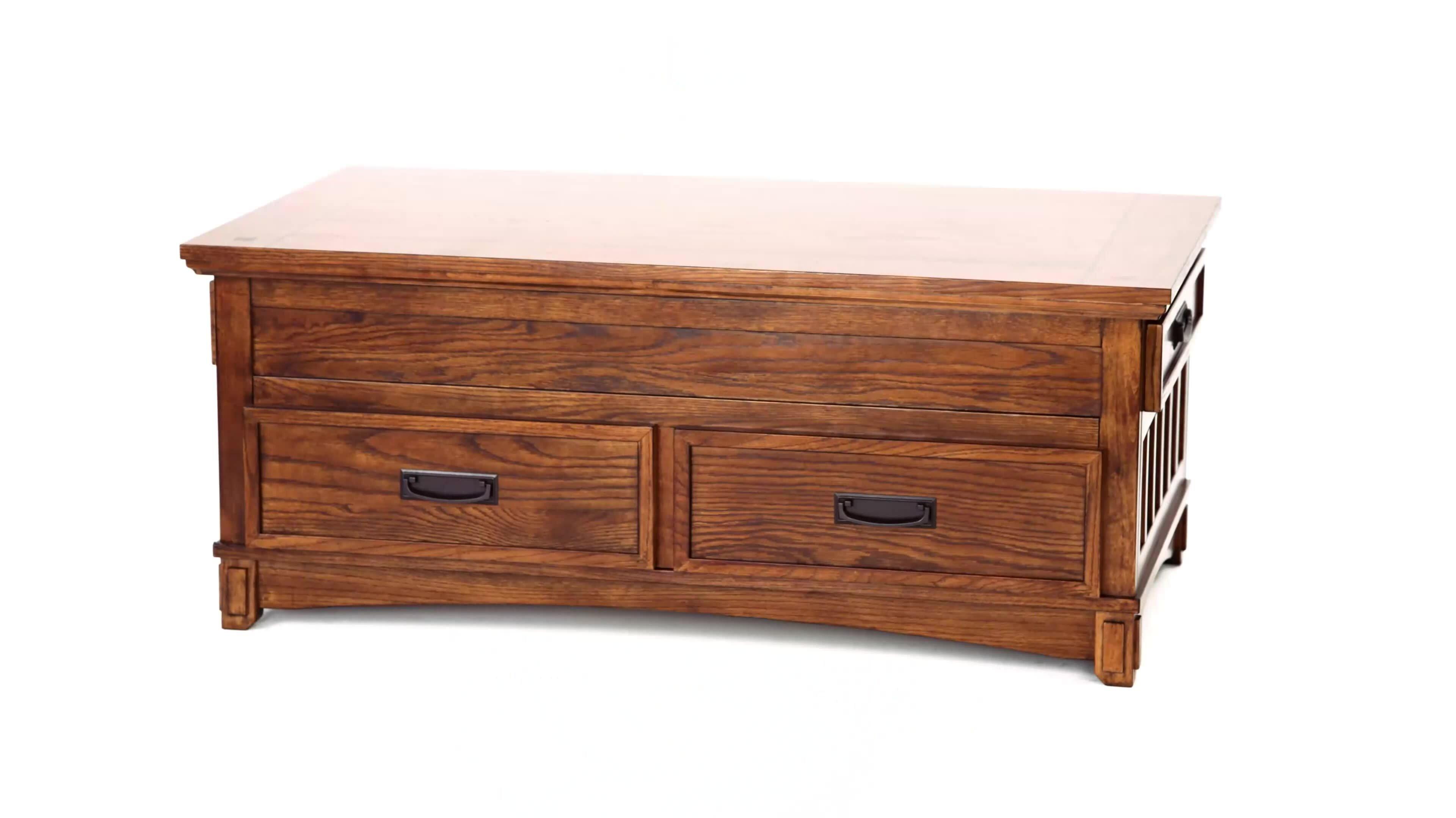 loon peak barrett trunk coffee table with lift top reviews wayfair