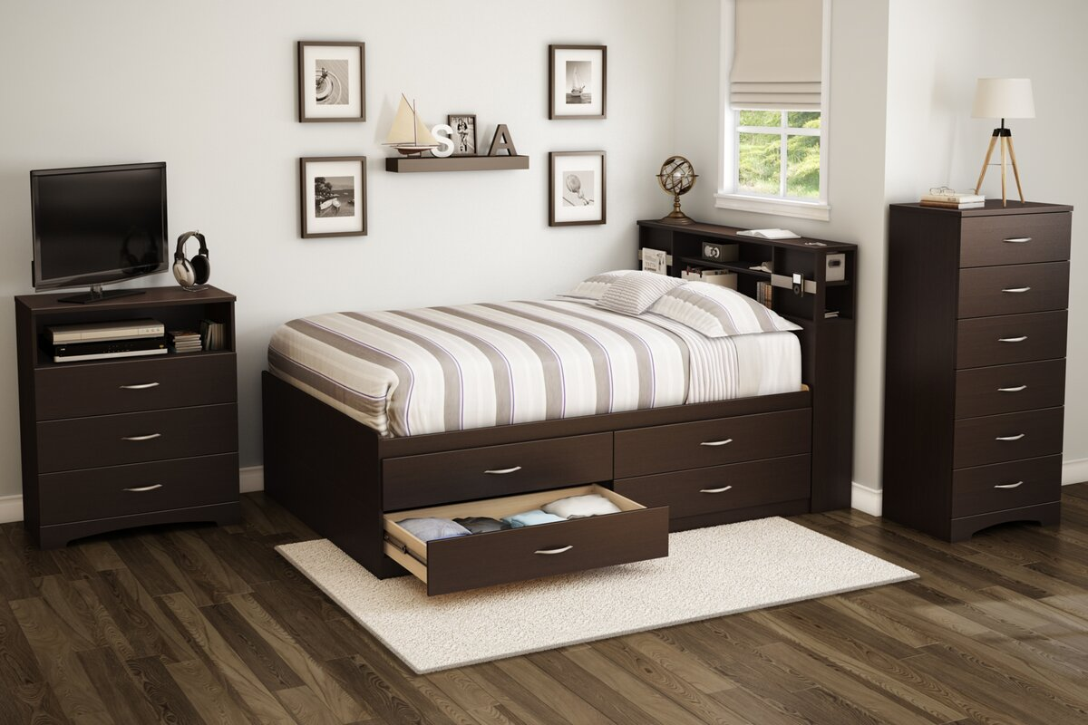 100 bed frame with attached nightstands 15 bedside tables a
