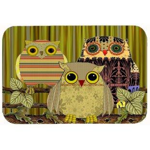 Ordinaire Fall Wisdom Owl Kitchen/Bath Mat