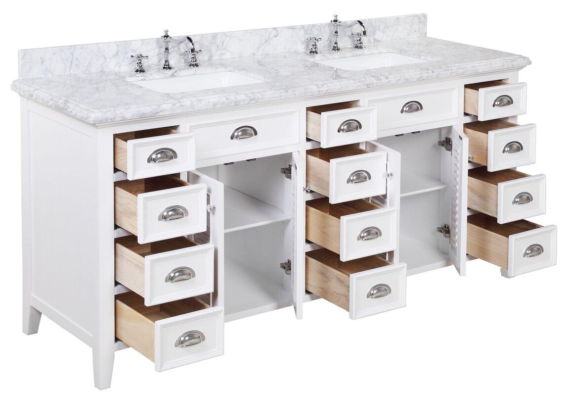 Kbc Savannah 72 Double Bathroom Vanity Set Reviews