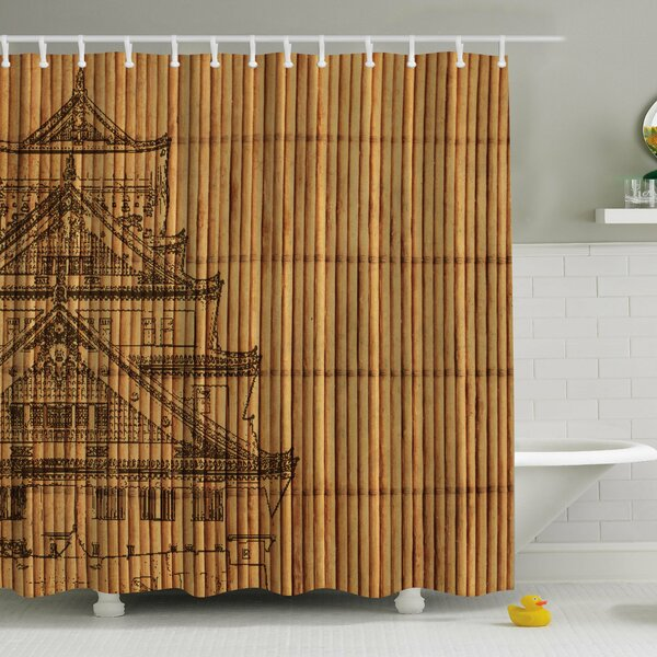 Ambesonne Japanese Reed Print Single Shower Curtain Reviews
