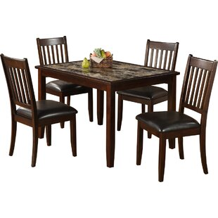 Engles 5 Piece Solid Wood Dining Set
