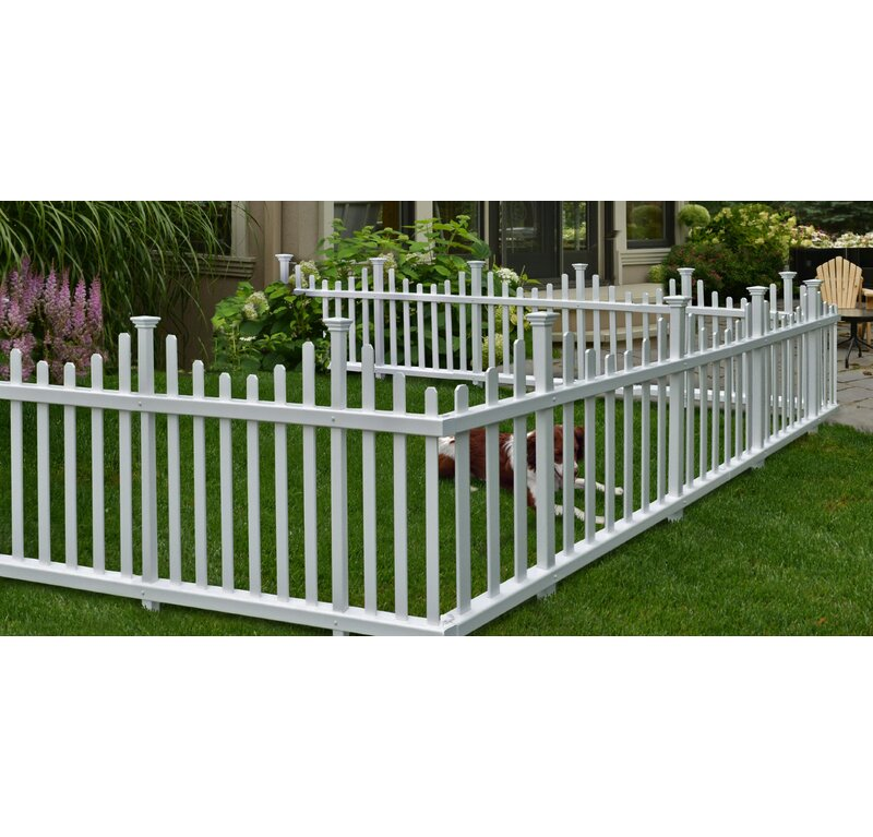 W Madison No Dig Garden Fence Panel
