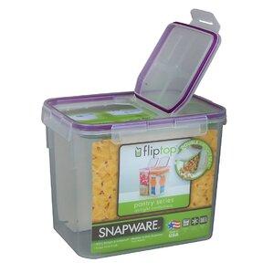 Flip Top 136 Oz. Rectangular Food Storage Container