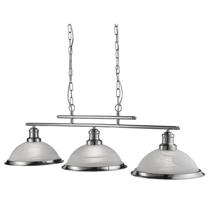 bistro 3 light kitchen island pendant searchlight bistro 3 light kitchen island pendant  u0026 reviews      rh   wayfair co uk
