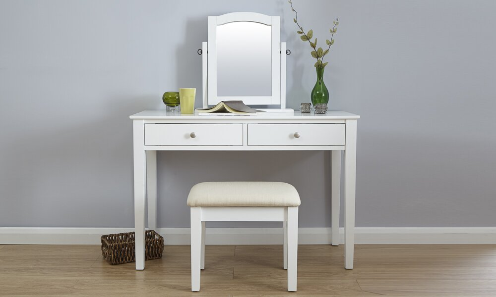 Andre Dressing Table Set With Mirror