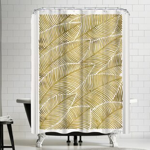 Tropical Gold Single Shower Curtain