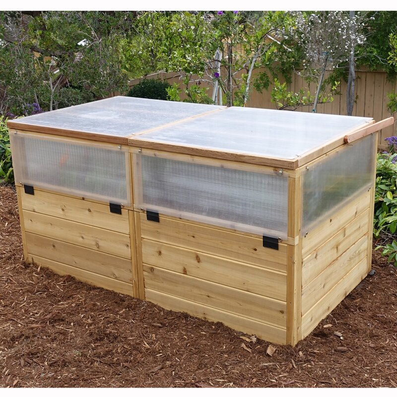 6 ft w x 3 ft d coldframe greenhouse