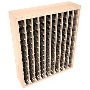 Karnes Pine Deluxe 120 Bottle Floor Wine Rack by Red Barrel Studio