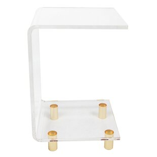 Neves Acrlylic C Shape End Table