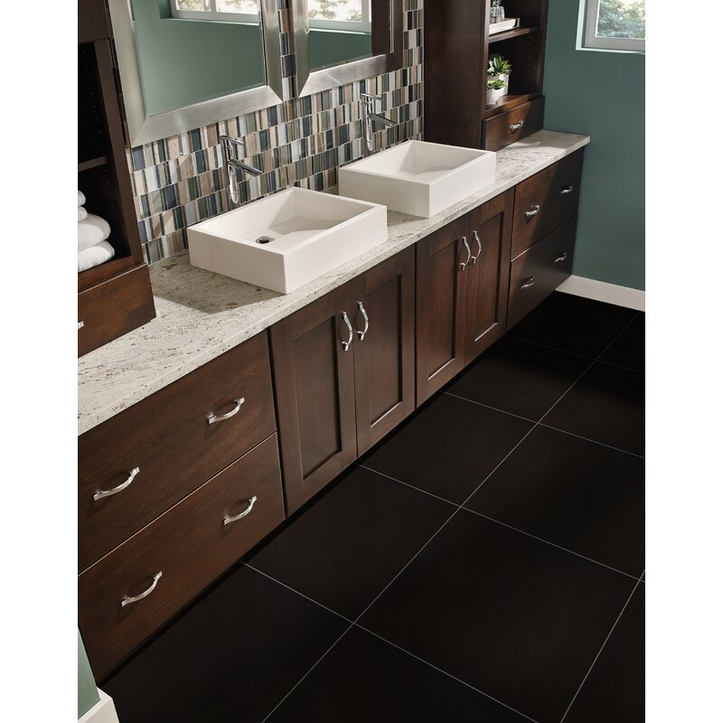 Msi Domino 24 X 24 Porcelain Field Tile In Polished Black Wayfair