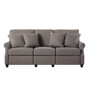 Lovely Simmons Flannel Charcoal Sofa | Wayfair