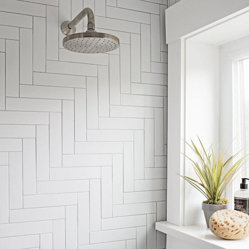 Retro 1 75 X 7 63 Porcelain Field Tile In Matte White