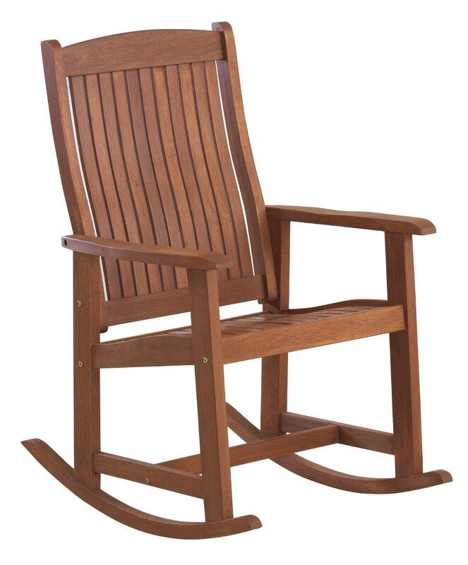 Loon Peak Danny Wooden Rocking Chair Reviews Wayfair