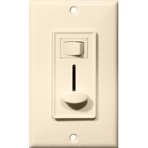slide 3way dimmer with switch in almond