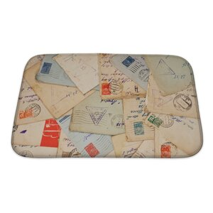 Vintage Old Envelopes Bath Rug