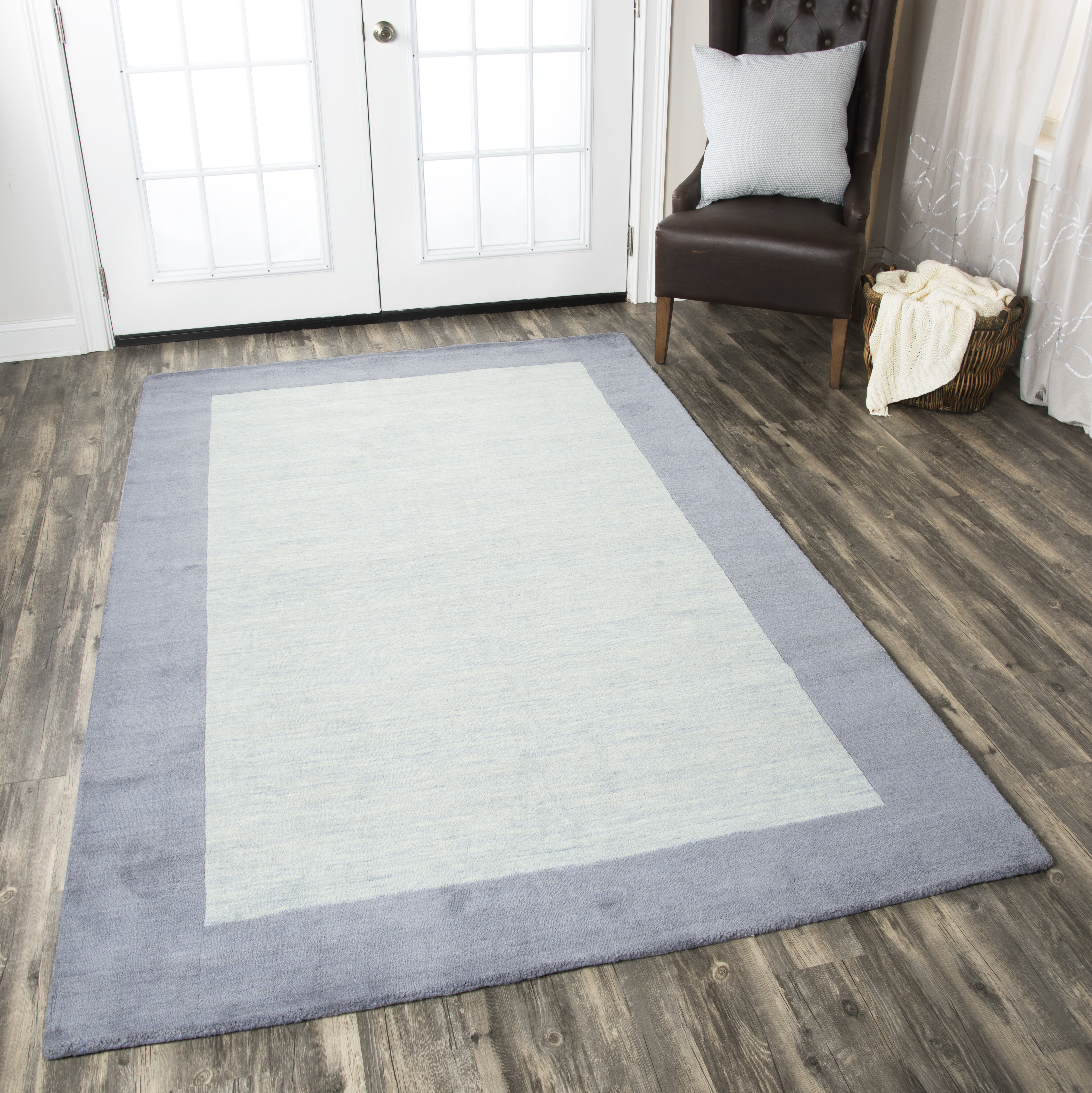 wool cologne blue grey light geometric rug products