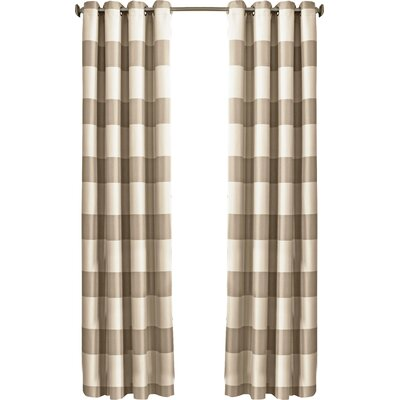 Beautyrest Gaultier Striped Max Blackout Grommet Single Curtain Panel Color: Natural, Size per Panel: 52 W x 95 L