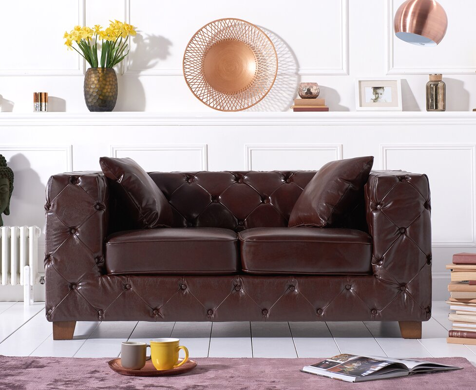 orren ellis sofa chae aus leder bewertungen. Black Bedroom Furniture Sets. Home Design Ideas