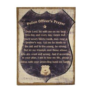 Merveilleux U0027A Police Officeru0027s Prayeru0027 Framed Textual Art