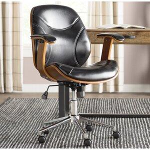 Aida High-Back Leather Desk Chair