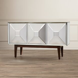 Duddleston 3 Door Mirrored Cabinet