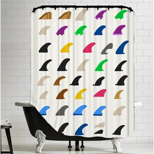 Fins Shower Curtain By Americanflat