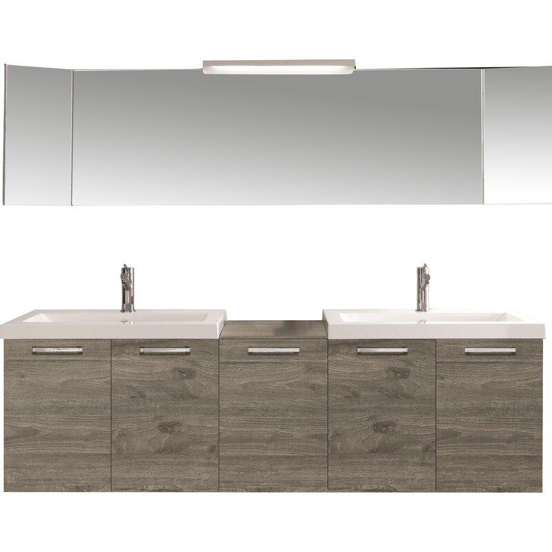 "Acquaviva 69"" Double Modern Bathroom Vanity Set"