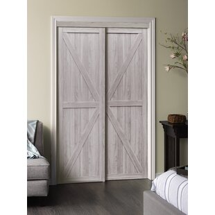 Paneled Manufactured Wood Trident Sliding Closet Door