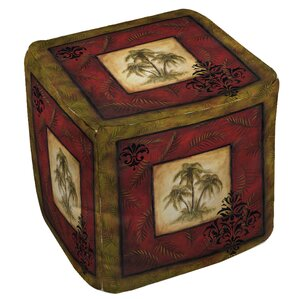 Palm Garden II Ottoman by Manual Woodworkers..