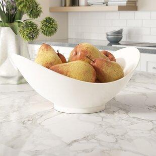 Allender White Fruit Bowl Set Of 2